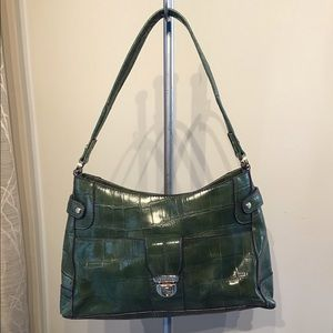 Crocodile purse with snap closure